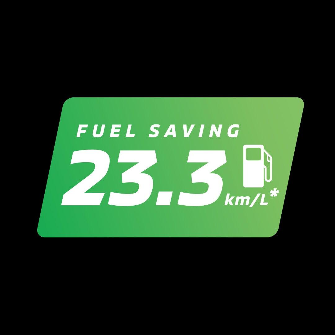 ประหยัดนำมันสูงสุดถึง 23.3 กิโลเมตร/ลิตร