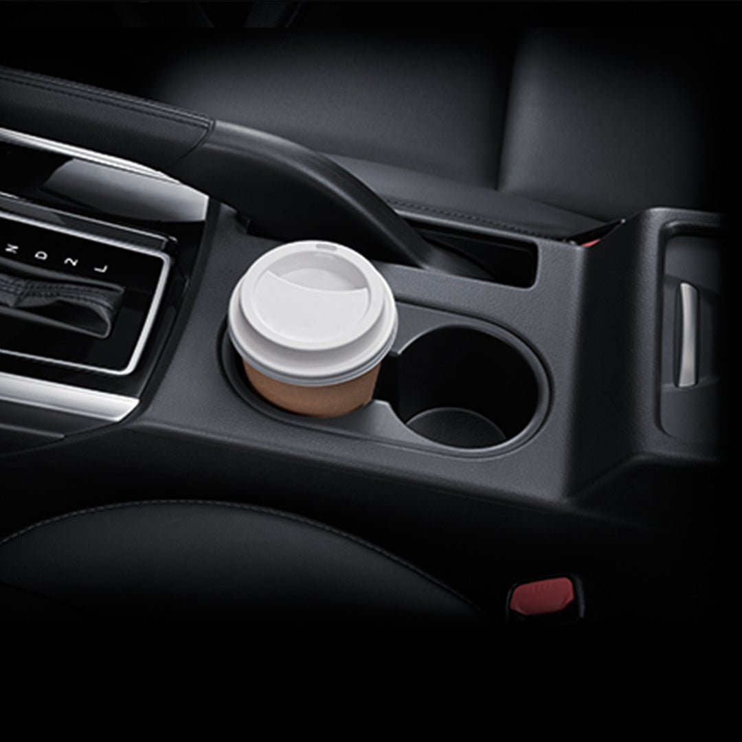 CUP HOLDER ON CENTER CONSOLE